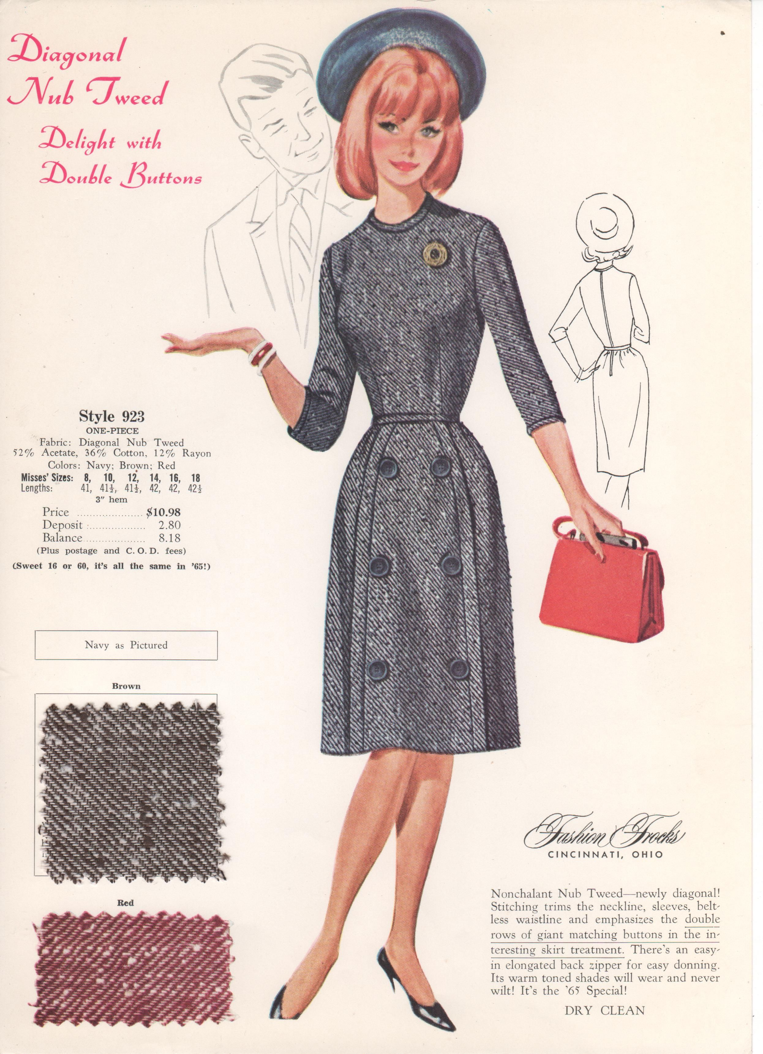 Fashion Frocks For 1965 1960 Fashion 1960s Outfits Retro Fashion