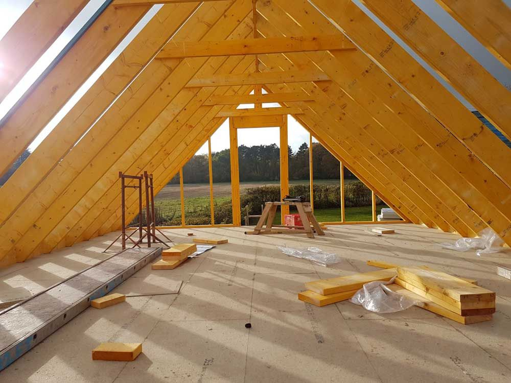2 Bay Carport with Gable End Room in Roof in 2020 Double