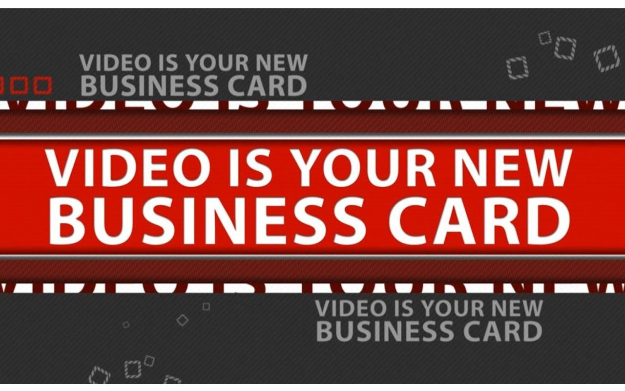 Video Is Your New Business Card Video Production Tampa Http