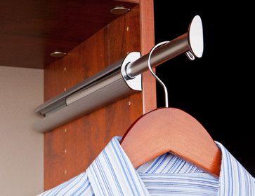 Hang On Cabinet Under Window... Valet Rod   Contemporary   Closet  Organizers