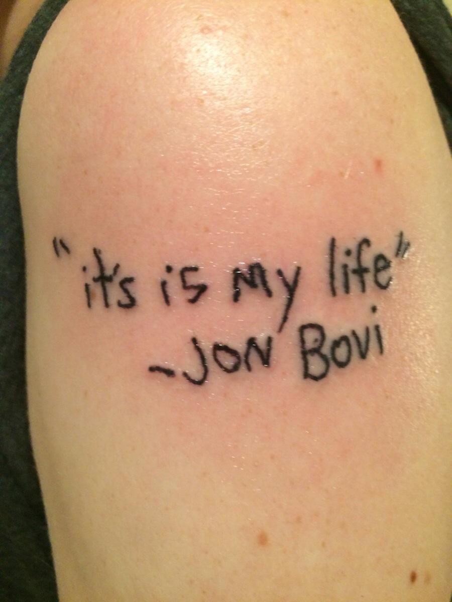 5e41c5c201edf Bon Jovi fan gets worst tattoo that reads, ''it's is my life' - Jon Bovi' -  AOL.com
