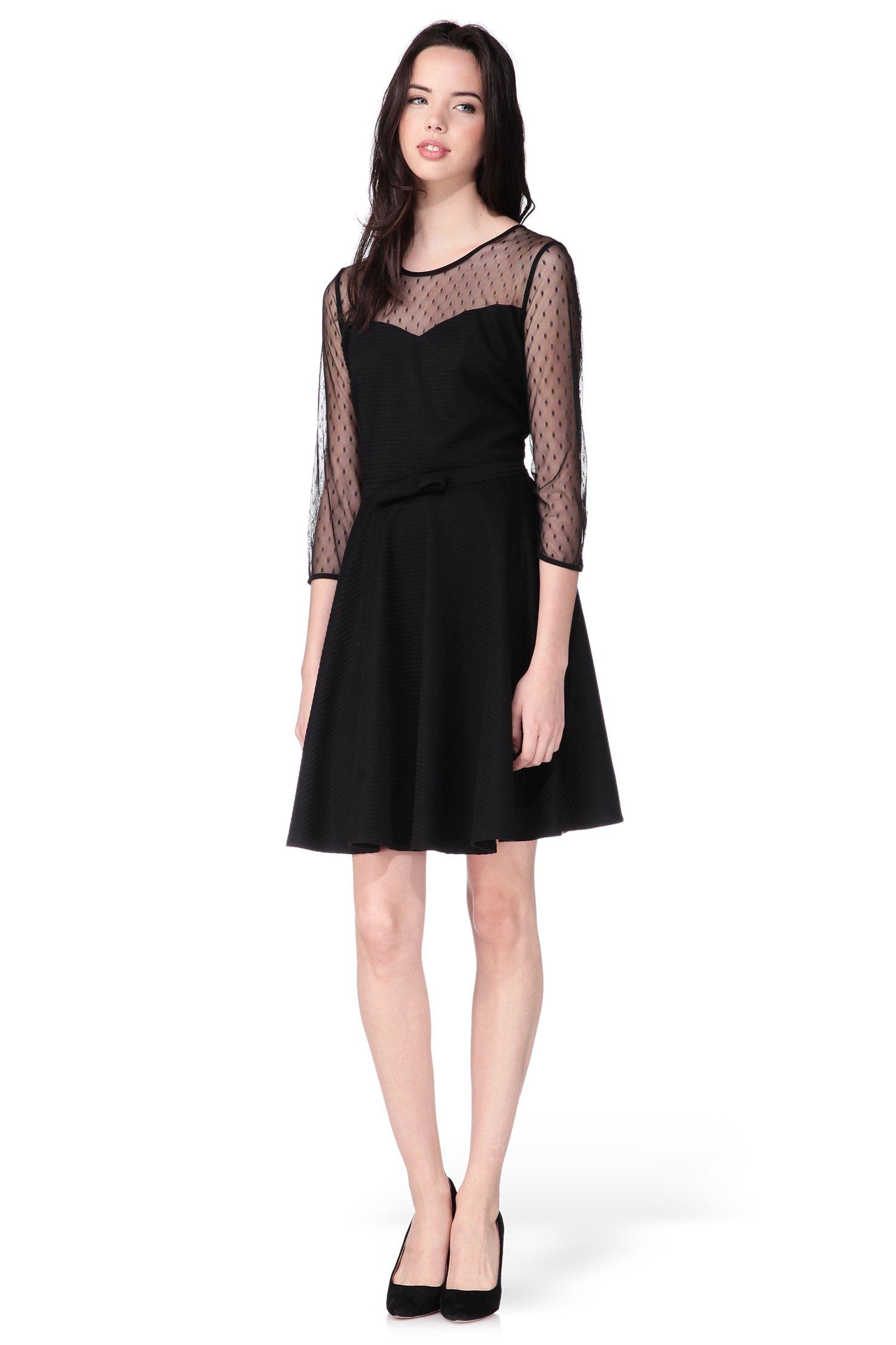f00a063fd6f Robe noire détail plumetis Lola Petite Robe Noire