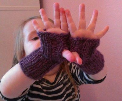 Einfache Pulswärmer stricken | Pulswärmer, Stricken und Handschuh