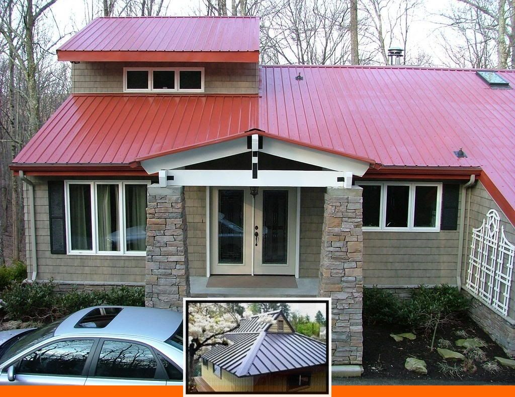 Steel roof colors menards and metal roof colors for brick