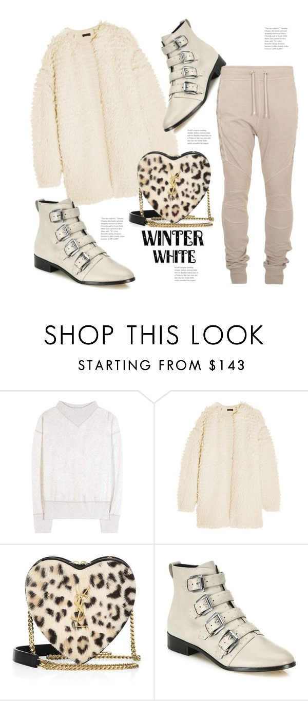 """""""❤️Winter White"""" by hattie4palmerstone ❤ liked on Polyvore featuring Étoile Isabel Marant, J.Crew, Yves Saint Laurent, Rebecca Minkoff and Balmain"""
