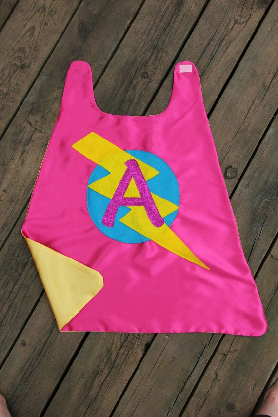 32368e500 GIRLS Superhero Personalized with your childs initial - CUSTOMIZED ...