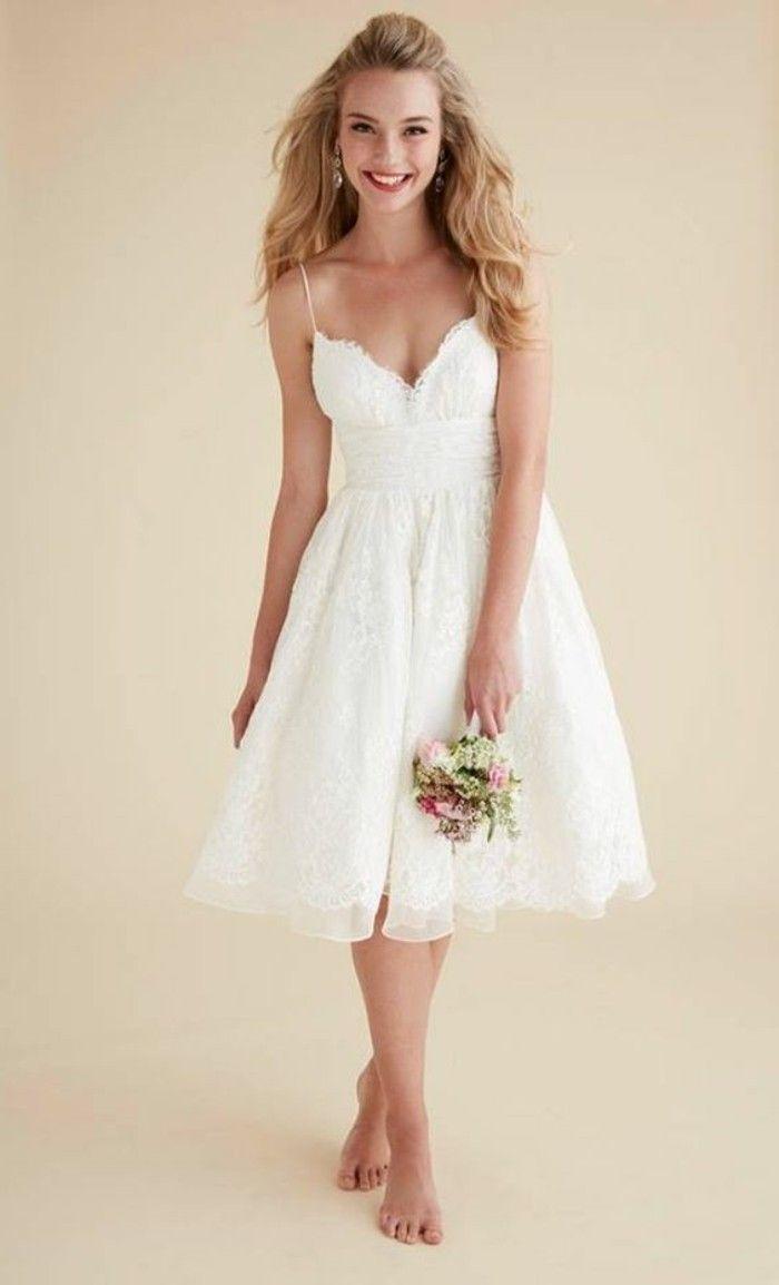 Vestidos de matrimonio cortos y sencillos