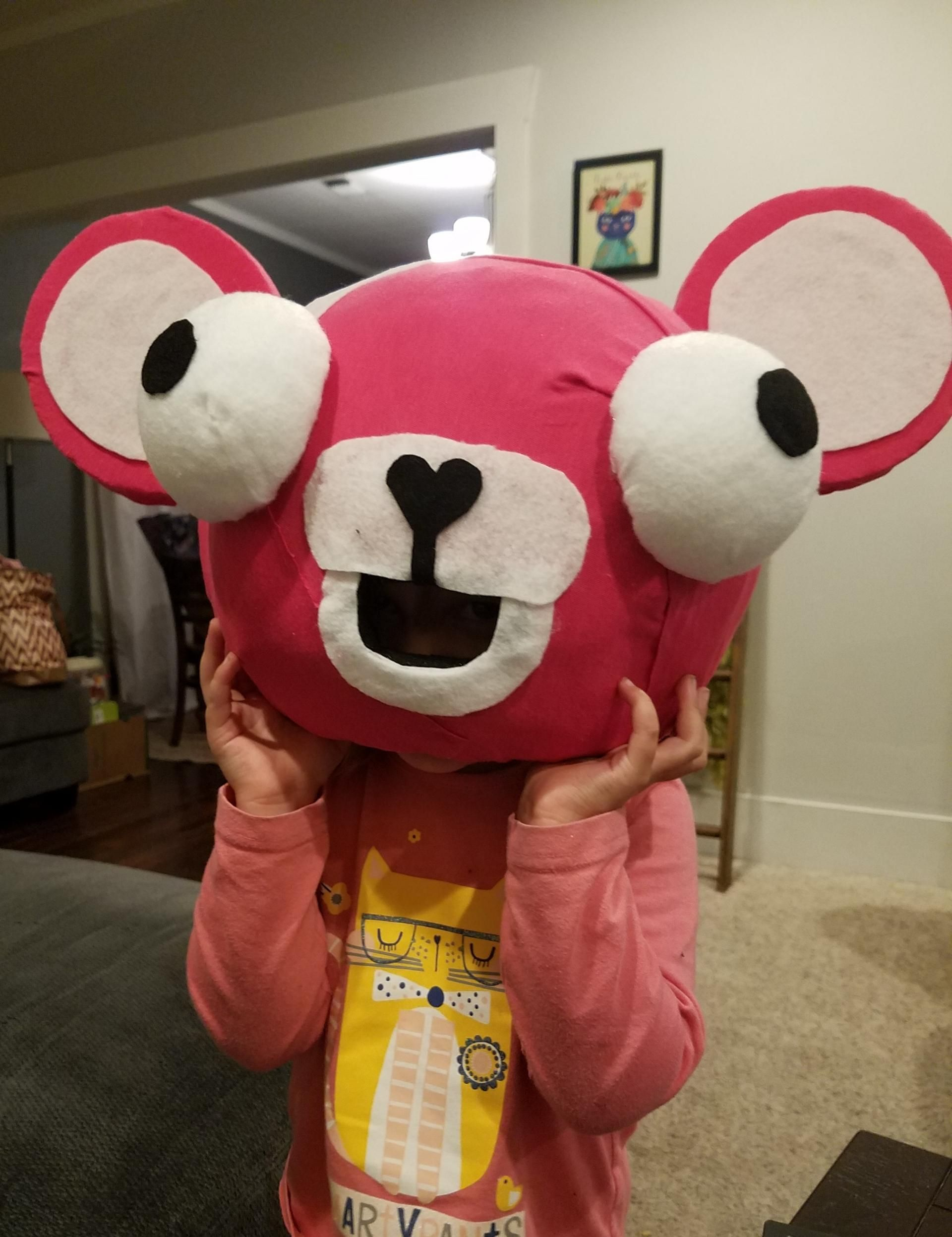 My Daughter Wanted To Be The Pink Panda With Glasses From Fortnite