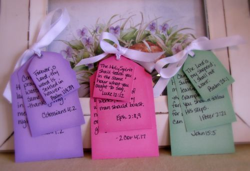personal Scripture verses to go in Easter baskets