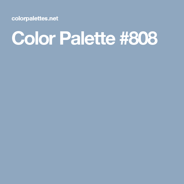 Color Palette #808