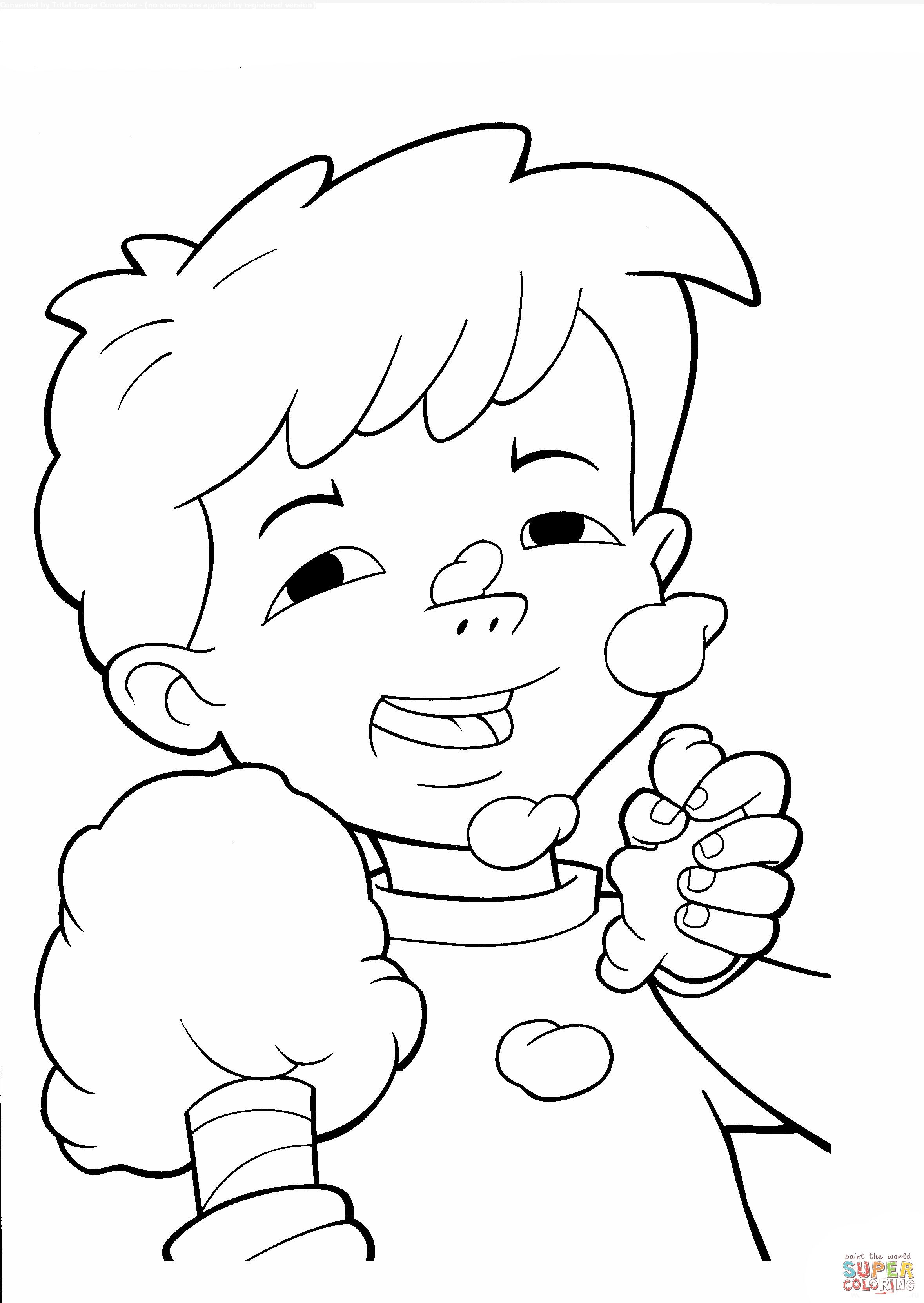 Max Eating Cotton Candy Coloring Page | I ♡ Dragon Tales ...