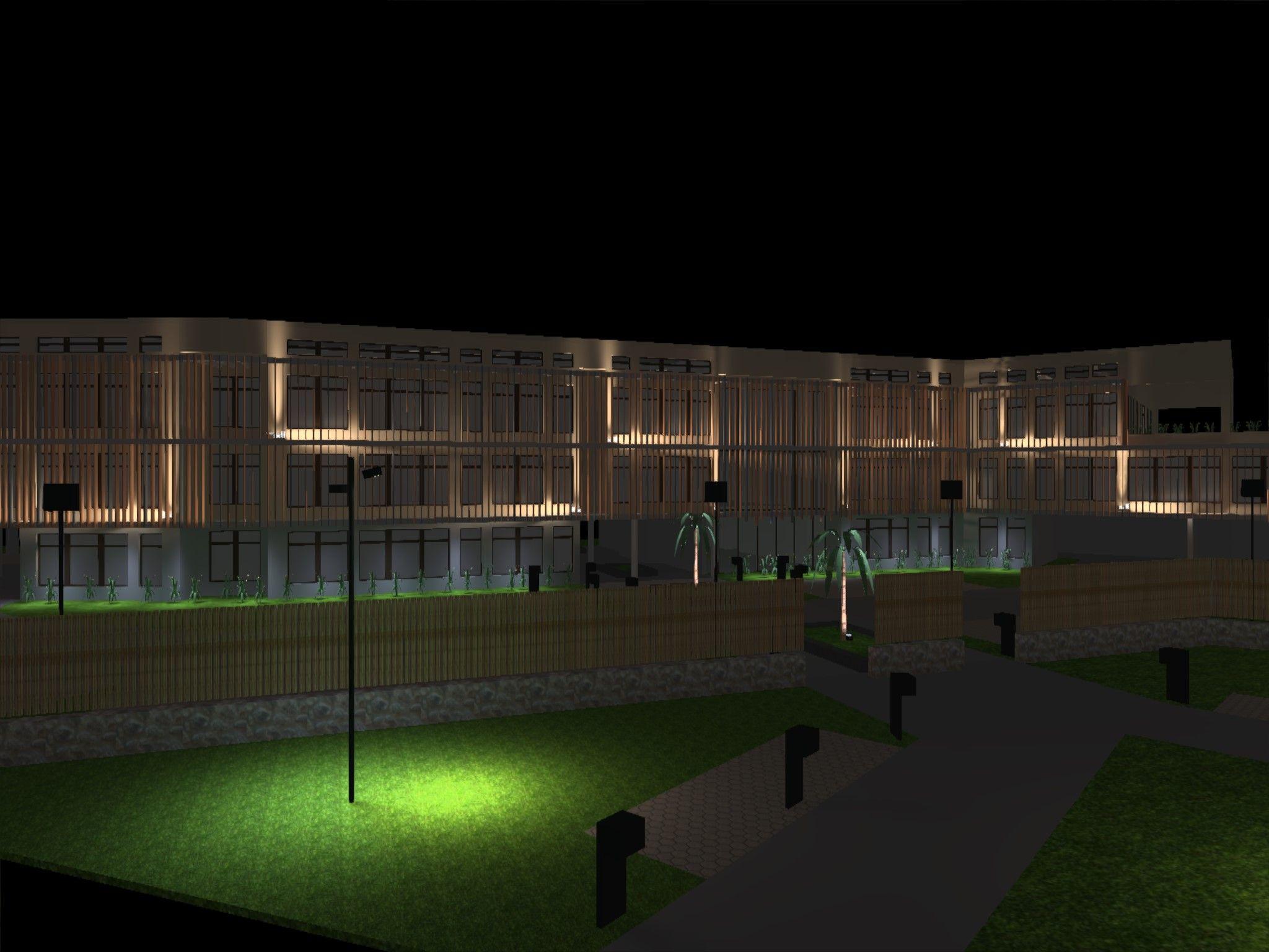 Eclairage Scenique Facade Contemporary Architecture Outdoor Lighting