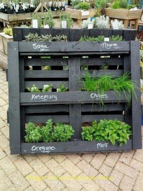 Most Affordable And Simple Garden Furniture Ideas Furniture Backyarddecor Herb Garden Pallet Diy Garden Furniture Pallets Garden