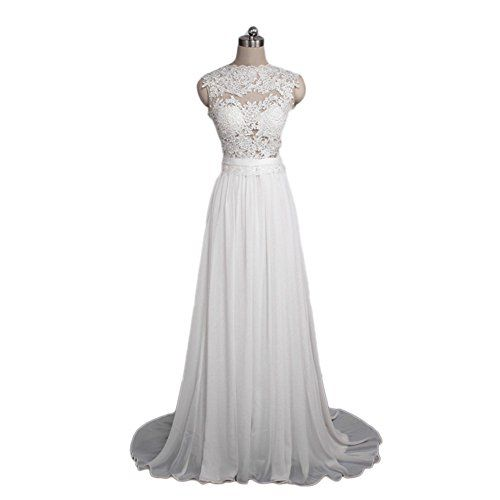 Kaitaijidian New Design Custom Made Sexy Bridal Gown Cap Sleeve Lace Wedding Dress Prom Dress 6 white *** Read more at the image link.
