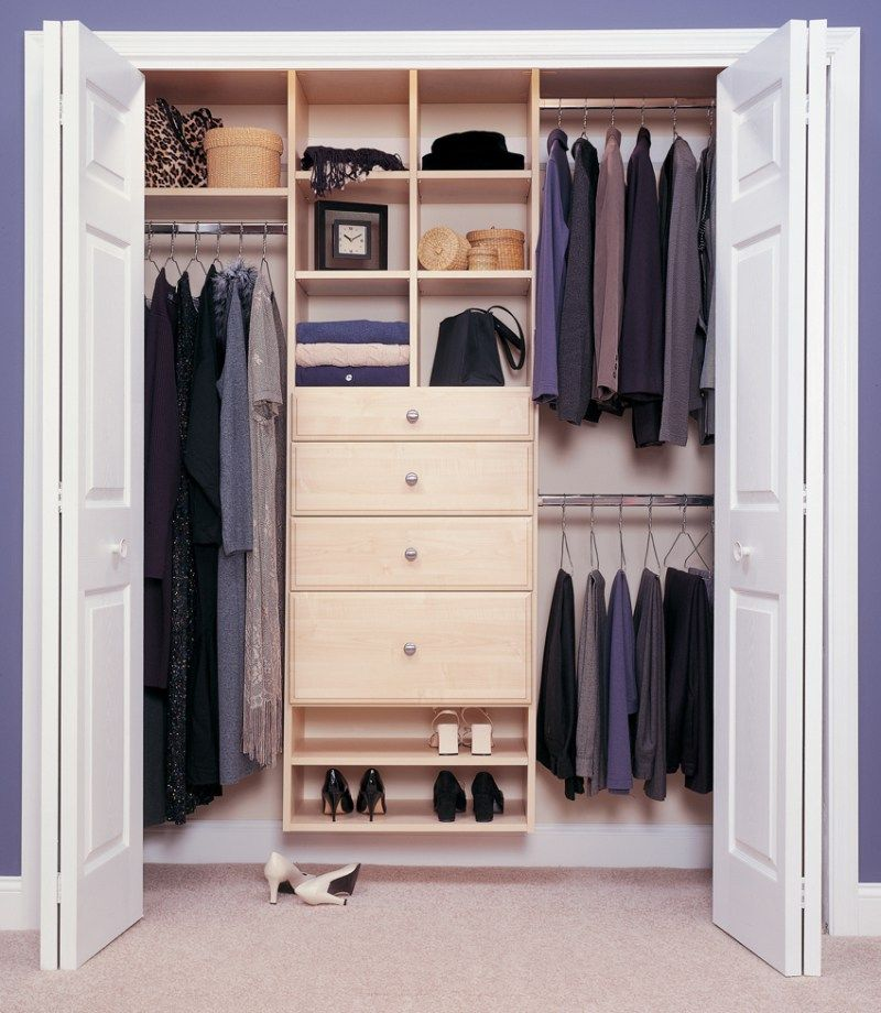 Basic Reach In Closet Simple Yet Truly Organized And