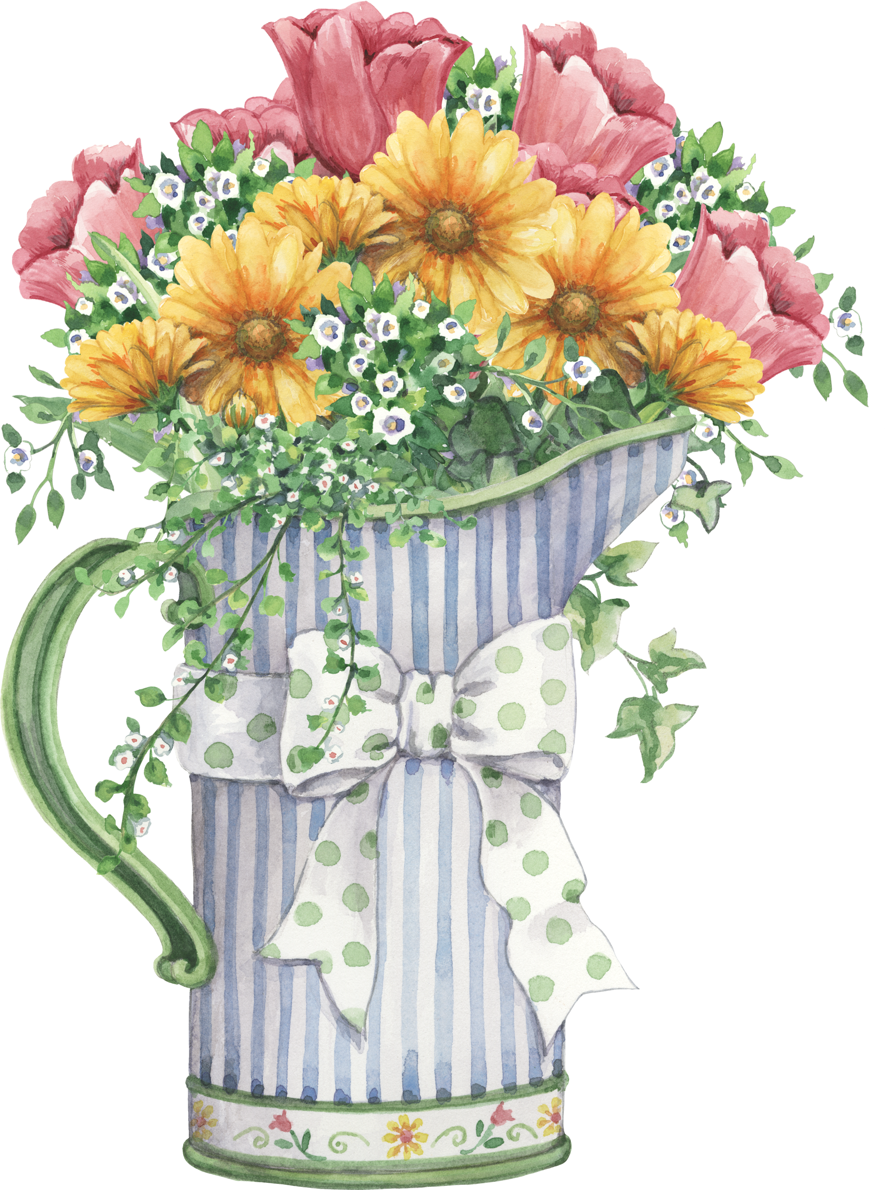pitcher with flowers art of flowers pinterest flowers decoupage and clip art. Black Bedroom Furniture Sets. Home Design Ideas