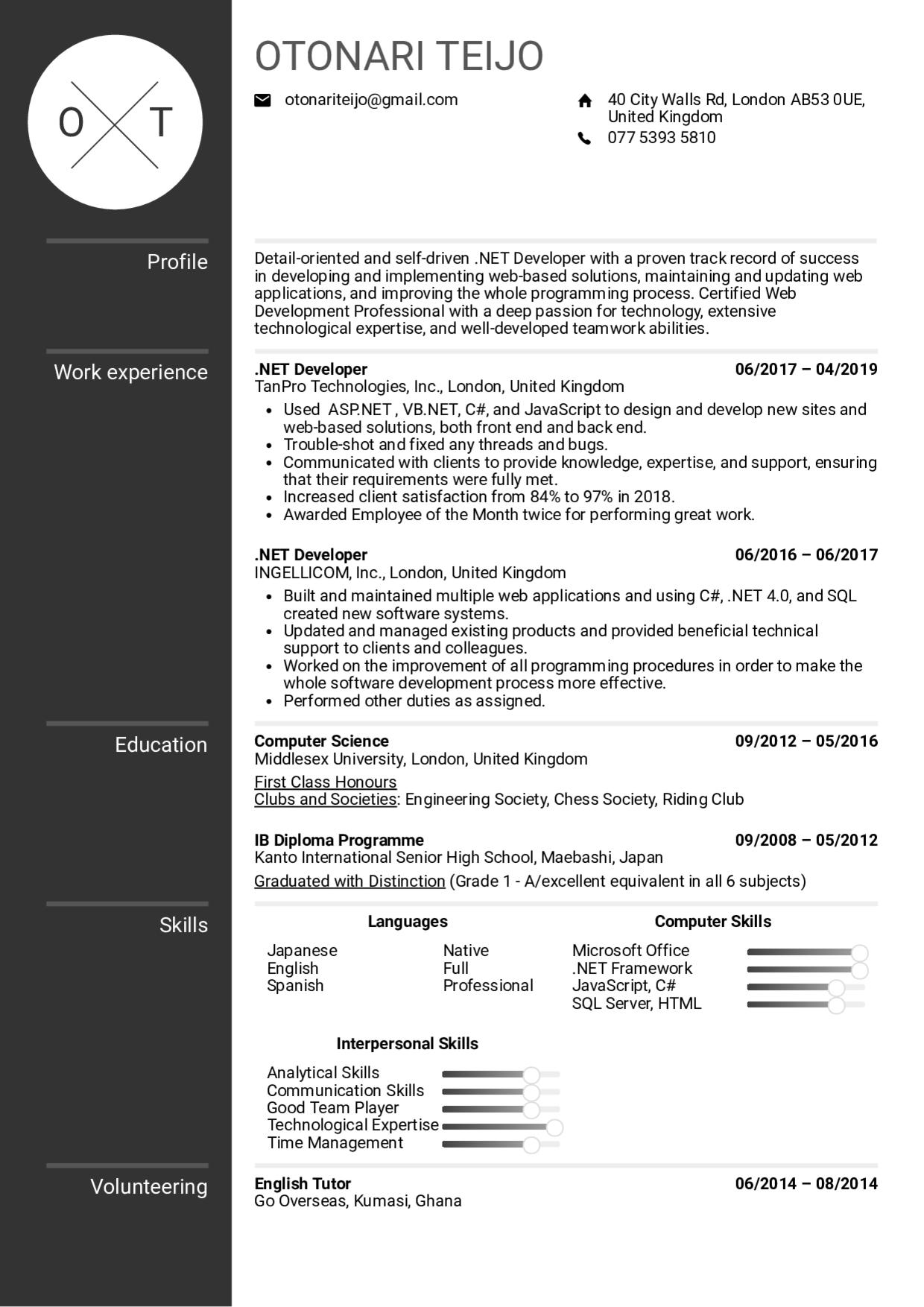 Free Dot Net Developer Resume Samples Professional Resume Templates Resume Template Professional Resume Templates Sample Resume Templates
