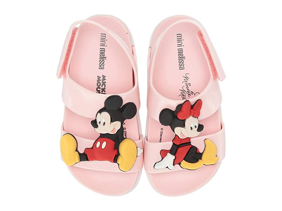 Mini Melissa Cosmic Sandal + Disney Twins (Toddler/Little Kid) Girls Shoes Pink