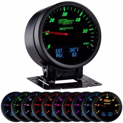 Glowshift 3 In 1 Black Boost Digital Exhaust Temp And Pressure Gauge Gs 3g 03 Gauges Fuel Pressure Gauge Car Interior Design