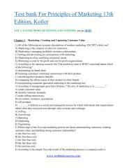Principles of marketing (13th edition) read [pdf].