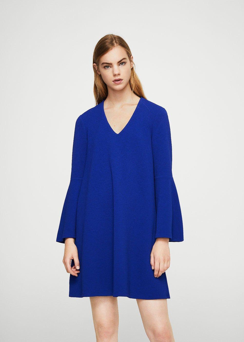 3f40e56dd9 Sukienka z rozszerzanymi rękawami - Sukienki dla Kobieta
