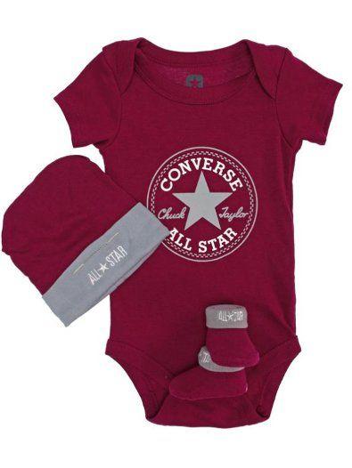 90c17fc4a1ee7 Converse 3 Piece Gift Set - www.standun.com | Converse Baby Clothing ...