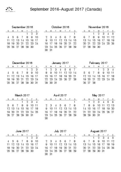 Printable Calendar  For Canada Pdf  Calendar
