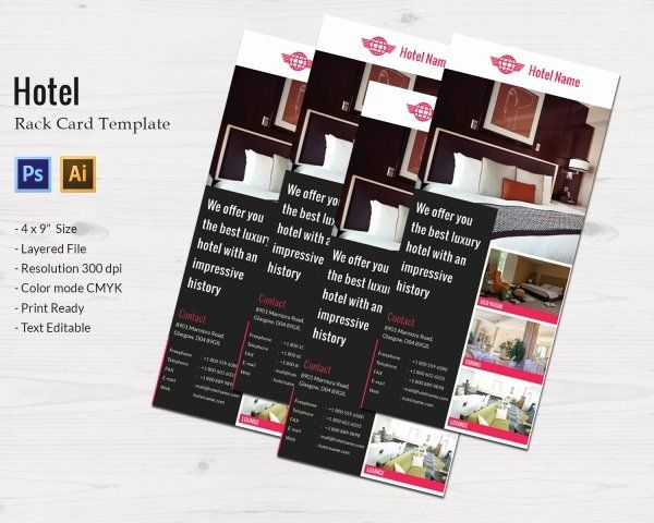 Free Rack Card Template New Hotel Template 15 Psd Eps Vector Ai Format Download Rack Card Templates Card Template Rack Card