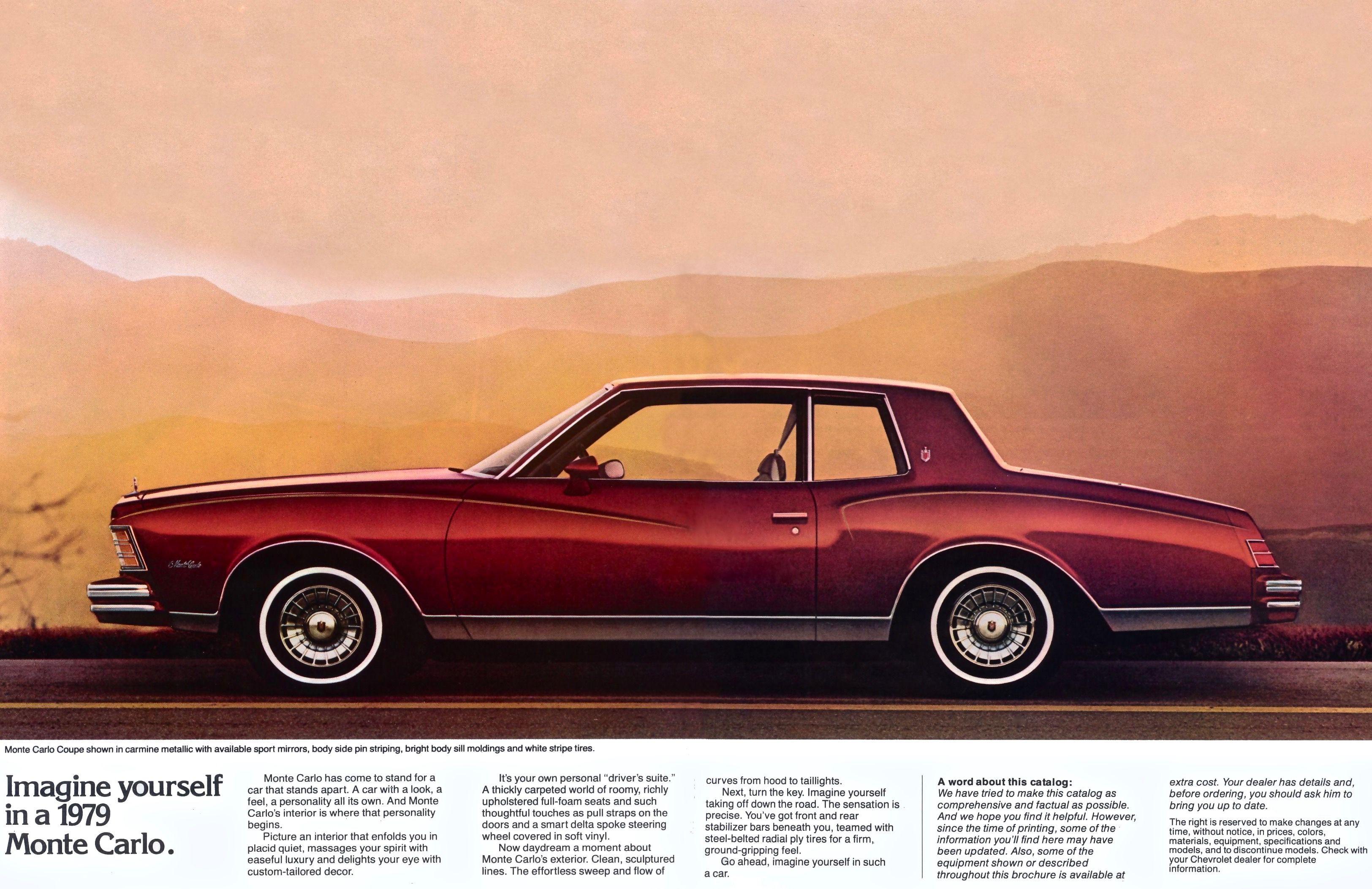 1979 Chevy Monte Carlo Chevy Monte Carlo Monte Carlo Classic Cars