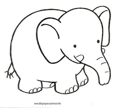 Elefant Animalitos Para Colorear Dibujos De Animales Y