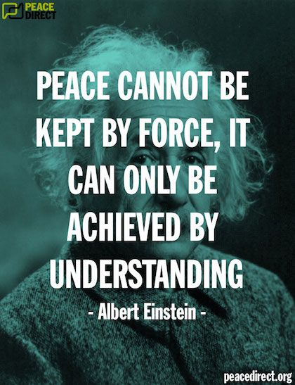 Peace Is Achieved By Understanding Buddhist Quotes Peace Quotes