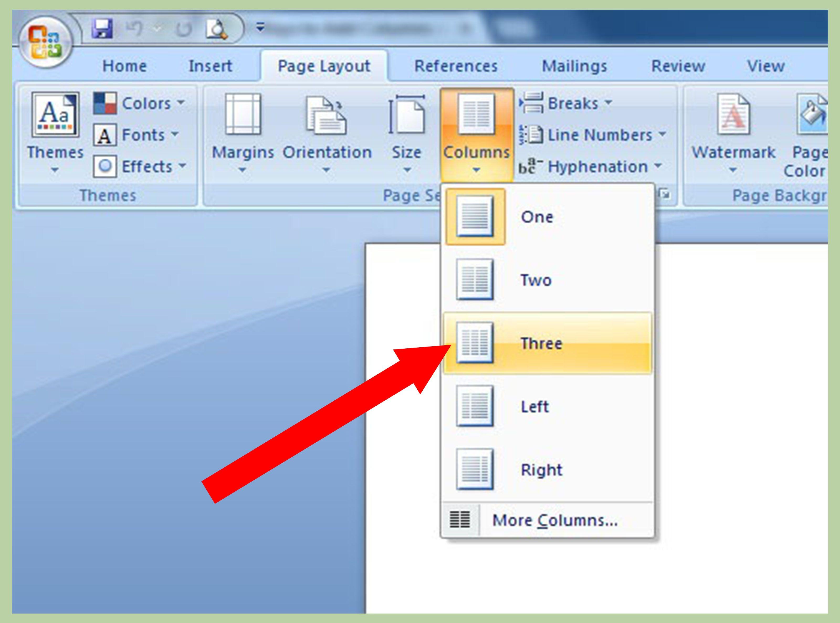 Add Columns in Microsoft Word Microsoft, Microsoft word