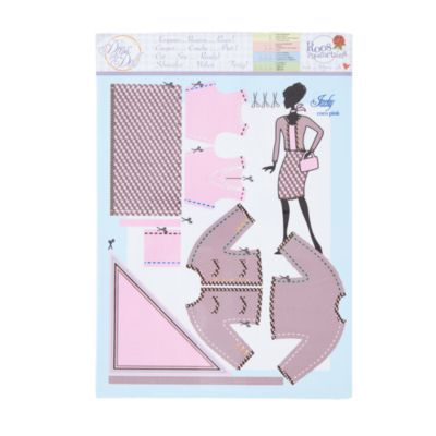 Dress Your Doll Clothing Pattern (Jackie Coco Pink)