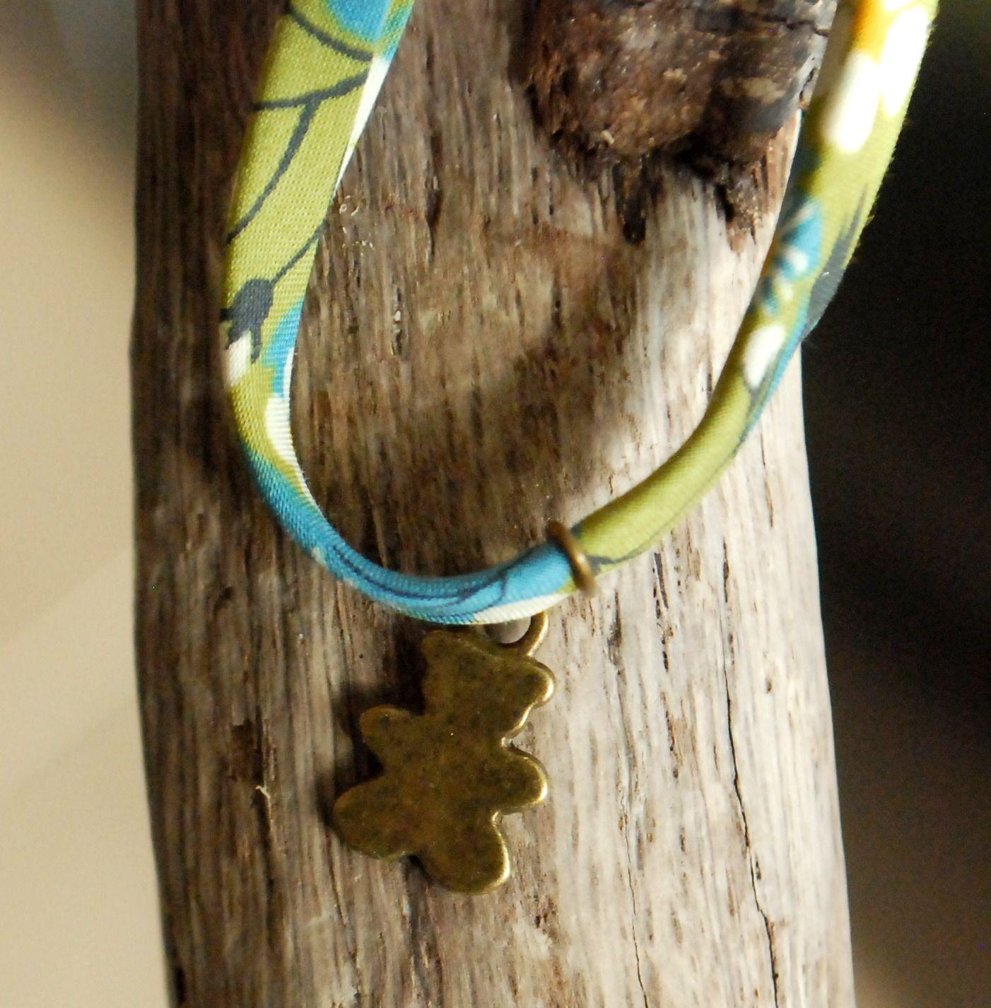 """Bracelet Liberty avec breloque """"Ours"""" bronze : Bracelet par bouloche-et-cie"""