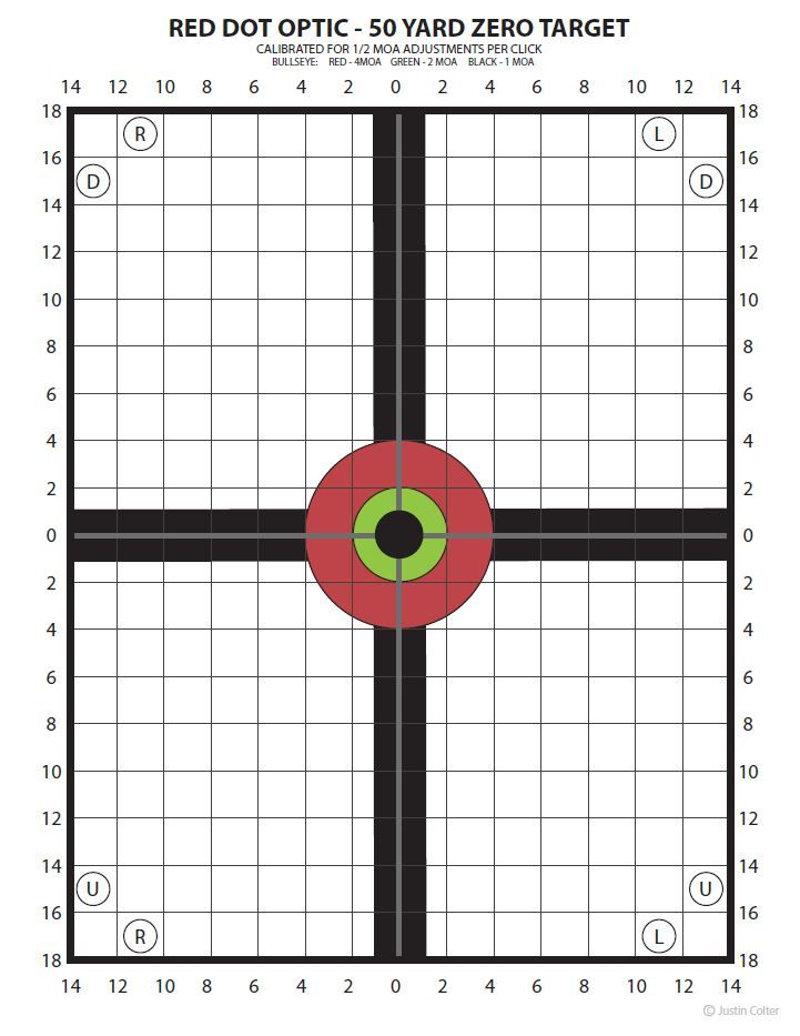 photograph relating to 100 Yard Zero Target Printable titled 50 backyard zero aim - Google Glimpse outside the house Focus