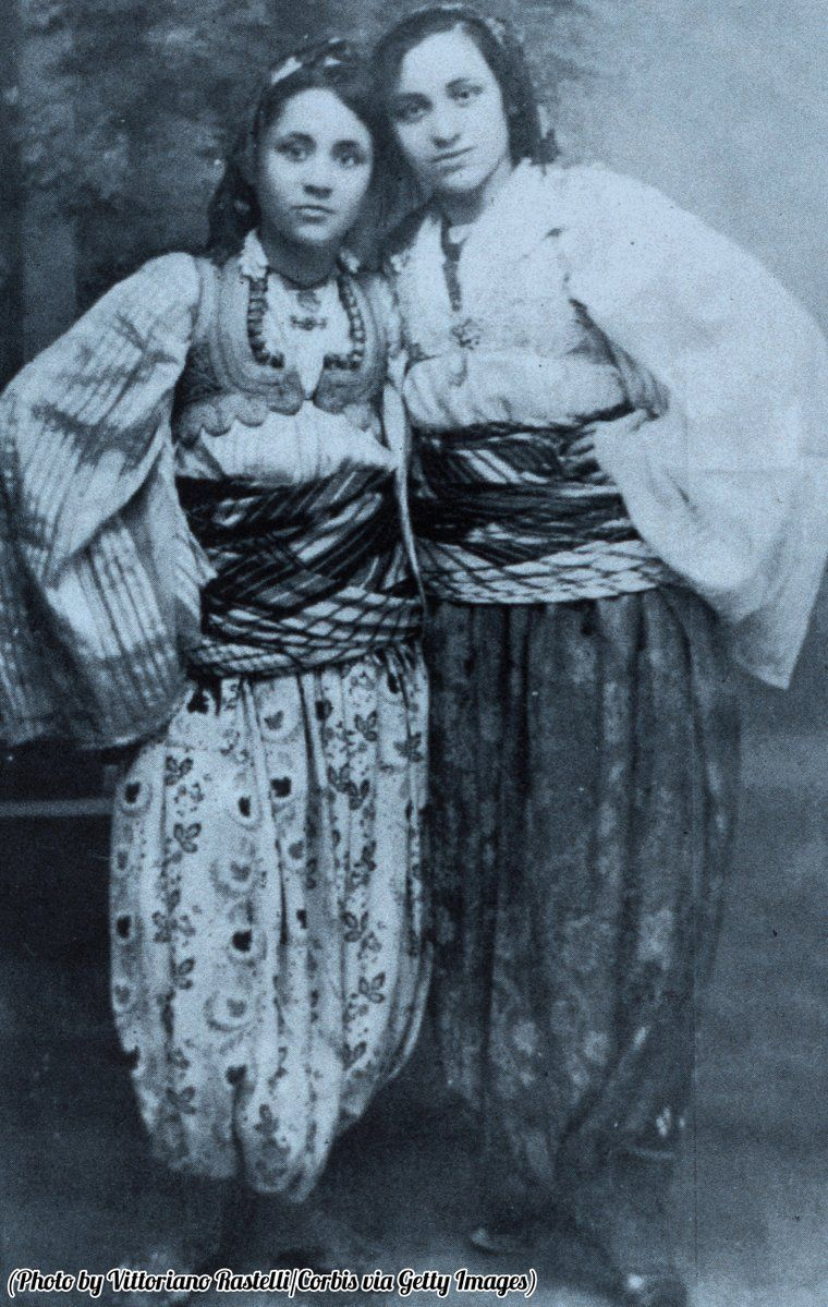 A Young Albanian Born Mother Teresa With Her Older Sister Aga In