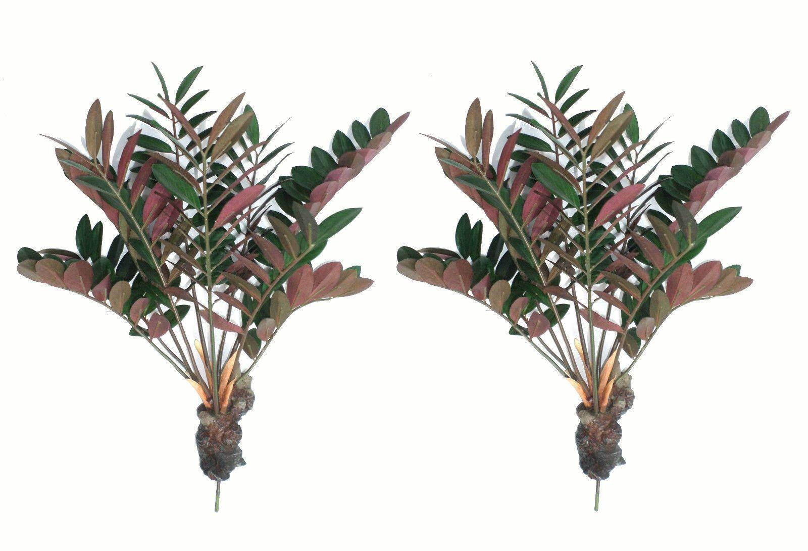 "- Artificial Imitation Silk Plant Replica Faux Bush Zanzibar Gem 48cm 19/"""