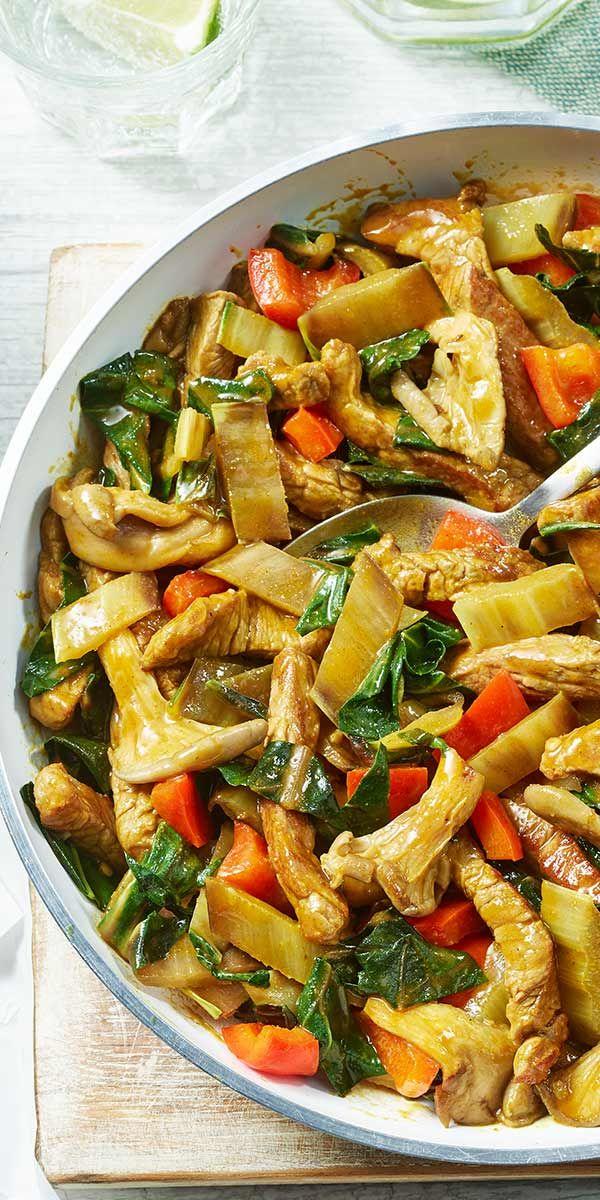 Mangold Curry Beef | Rezept | gastrology | Rezepte, Mangold und ...