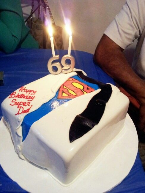 Super Dads birthday cake that has to be the most impressive