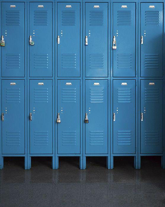 Blue Lockers Printed Backdrop Backdrop Express Printed Backdrops Backdrops School Lockers