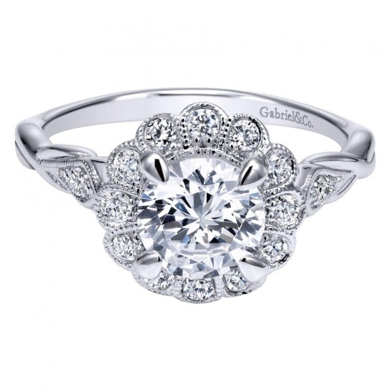 Criss Cross Engagement Ring Setting |Shop at Id jewelry NYC, 10036