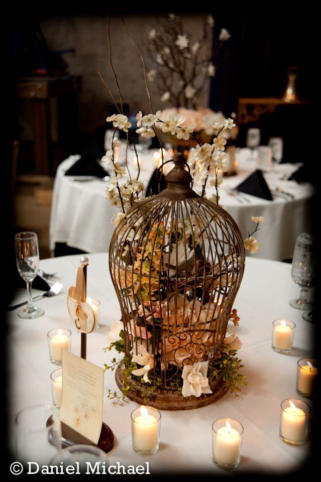 Cincinnati wedding birdcage centerpiece ideas