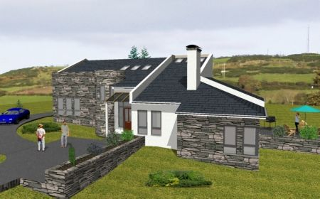 mod012-split level house Irish house plans.ie | Country House Ideas on modern houses in ireland, kitchen designs in ireland, beach houses in ireland, types of homes in ireland,