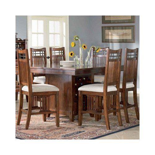 Vantana Piece Counter Height Dining Table Set In RedBrown By - Broyhill counter height dining set