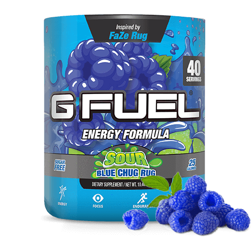 Sour Blue Chug Rug Gamer Fuel Chugs Healthy Superfoods
