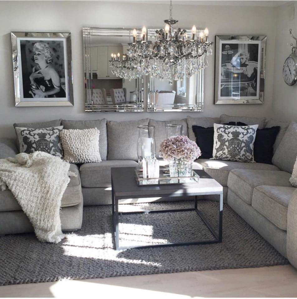 Cream White Gray Living Room