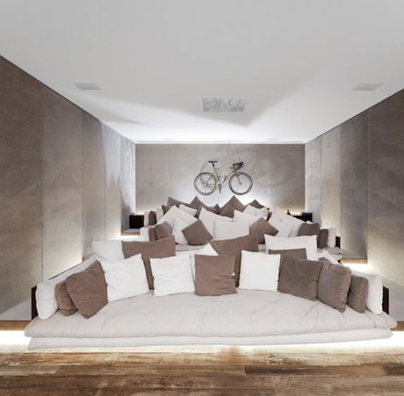 Tiered Theater With Deep Sofas | Perfect | Pinterest | Deep sofa and ...