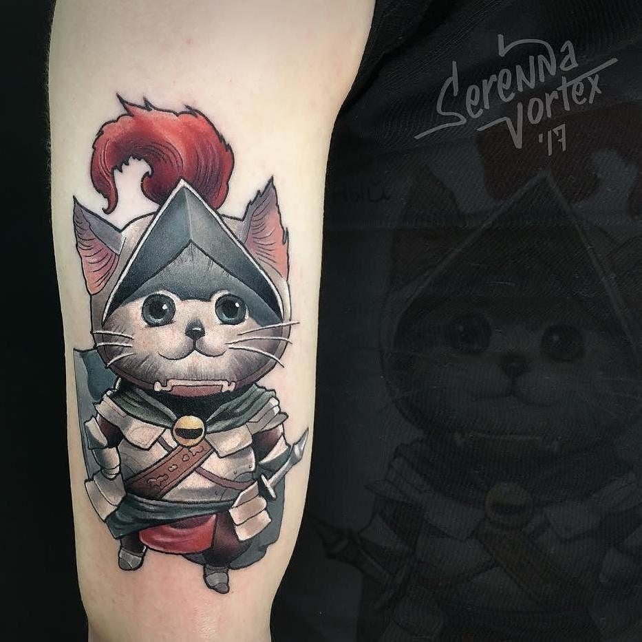 Knight Kitty By Serennavortex In Saint Petersburg Russia Knight Armor Cat Kitty Serennavortex Saintpetersburg S Tattoos Tattoos For Women Skull Tattoo