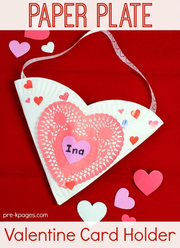 Easy Valentine Card Holders  Craft School and Paper plate crafts