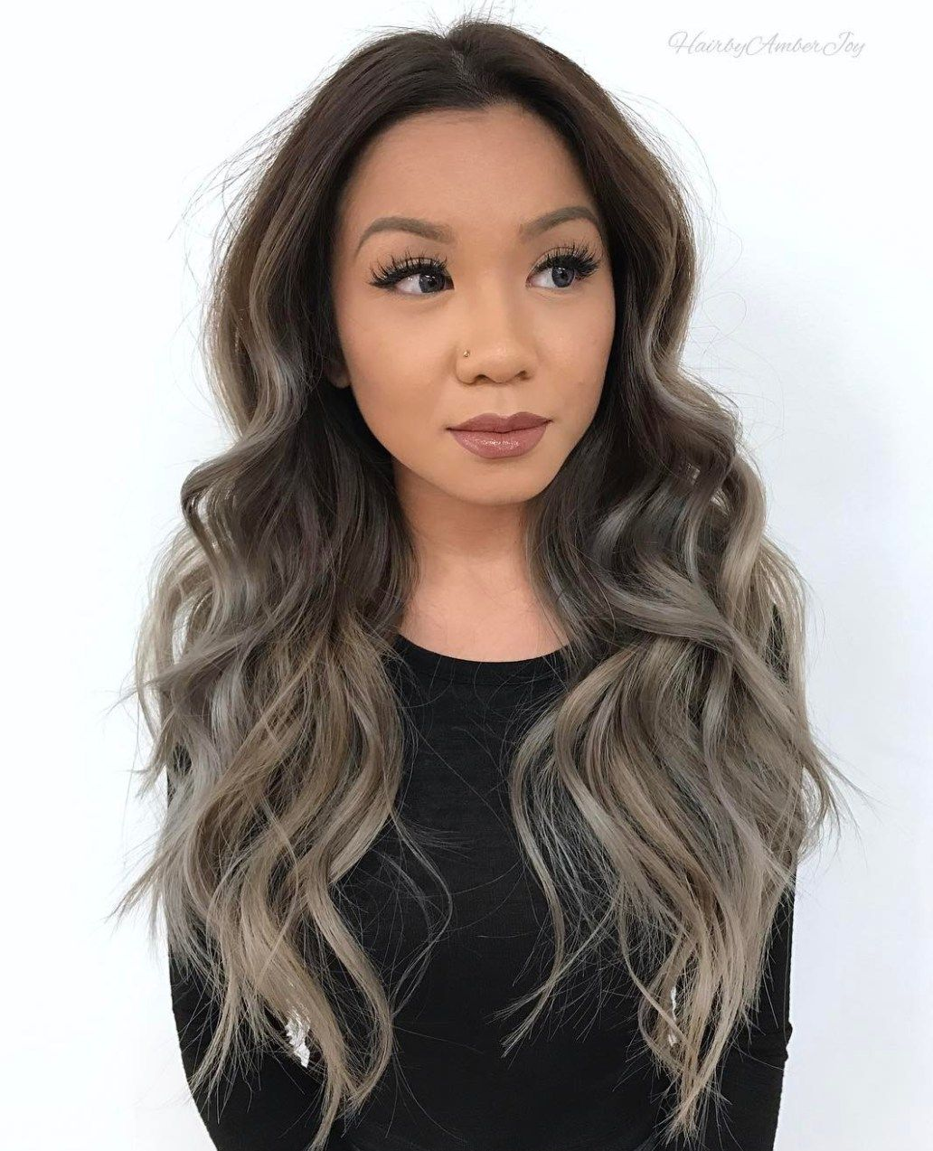 modern asian hairstyles for women and girls ash brown ombre